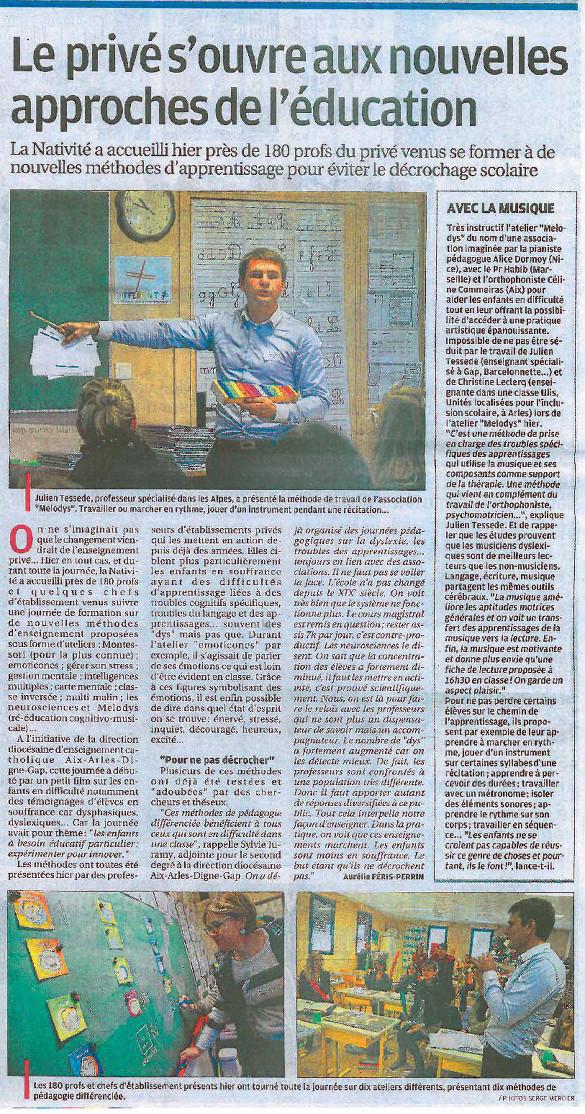 Le privé s'ouvre aux nouvelles approches de l'éducation (La Provence)